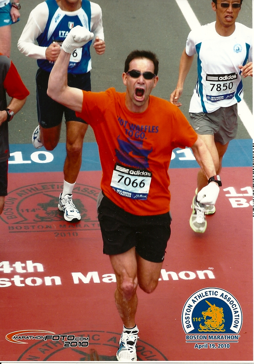 Picture of Dr. Youngquist racing in the Boston Marathon